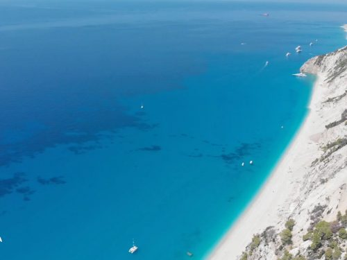 Lefkada beaches Egremni Beach
