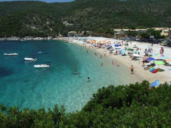 Lefkada beaches Mikros Gialos beach