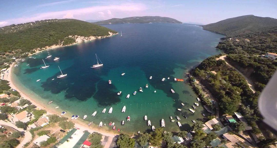 Lefkada beaches Desimi beach aerial