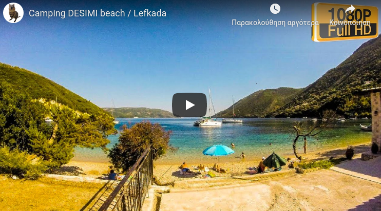 Lefkada beaches Desimi Beach for youtube