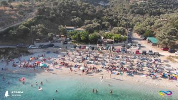 Lefkada beaches Ammouso Beach
