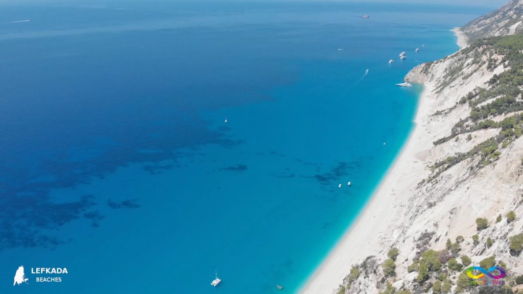 Lefkada beaches Egremni from the right side