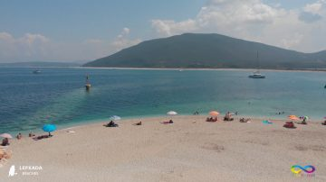 Lefkada beaches Ammoglwssa Beach