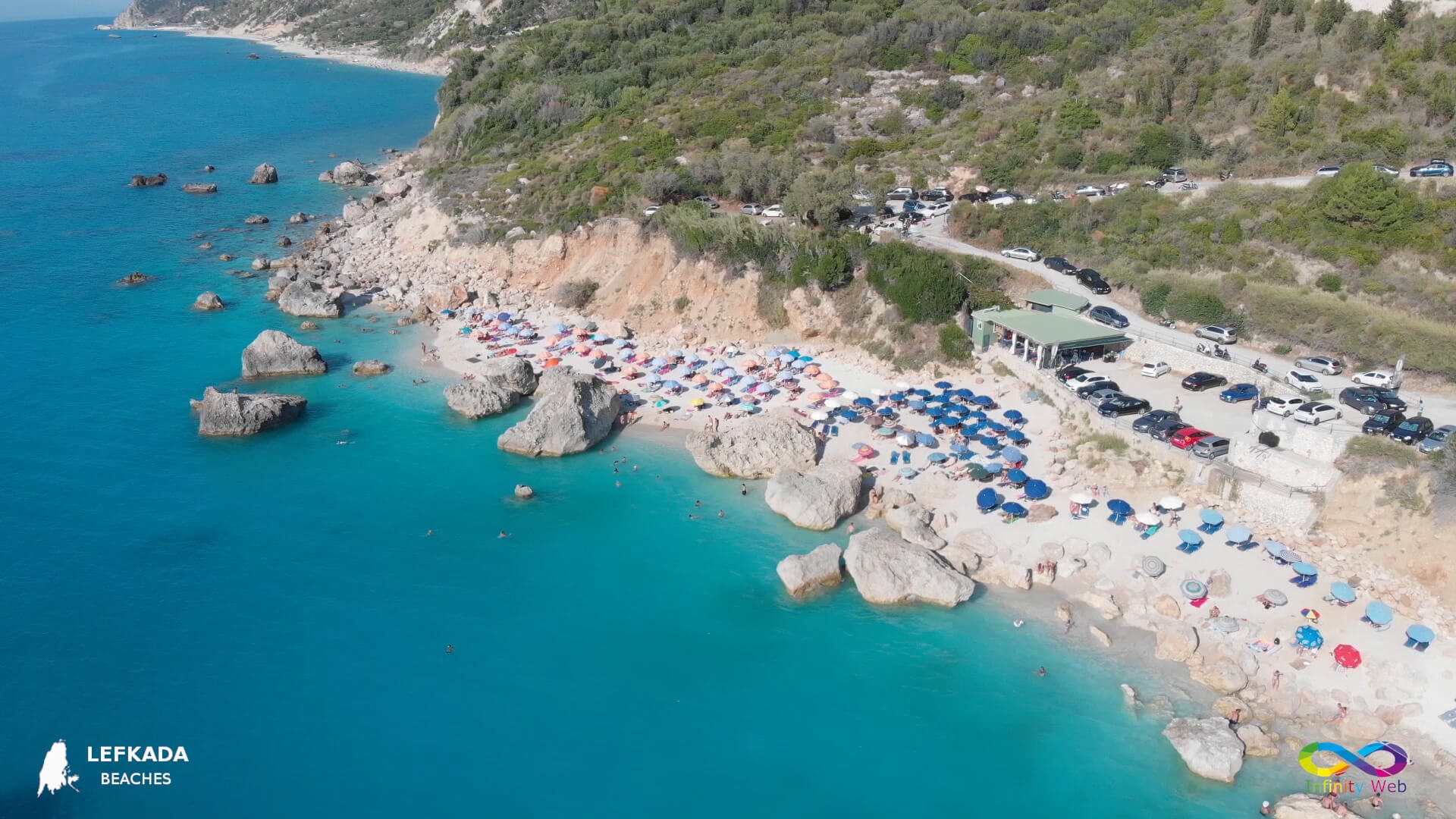 Lefkada beaches Kavalikefta Beach