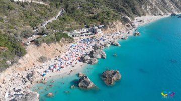Lefkada beaches Kavalikefta Beach