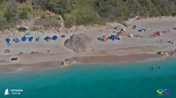 Megali Petra Beach Listing Of All Beaches Of Lefkada