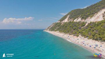 Lefkada beaches Pefkulia Beach