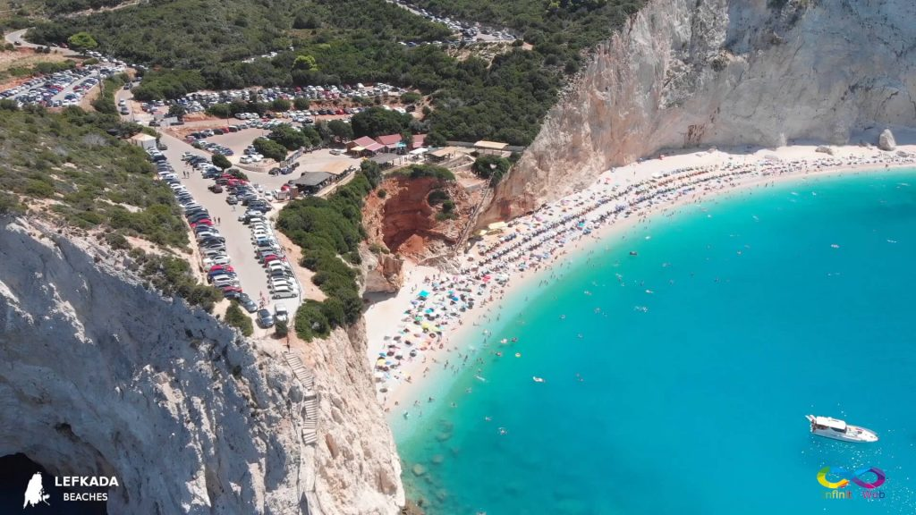 Lefkada beaches Porto Katsiki from the left side
