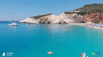 Lefkada beaches Porto Katsiki Beach