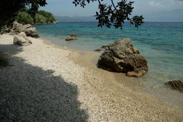 Lefkada beaches Pasa beach right side